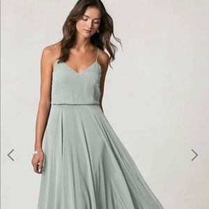 Jenny Yoo Bridesmaid Dress, Long, Sea Foam Color